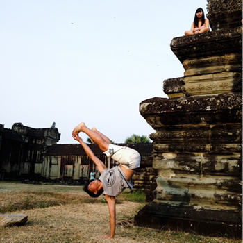 Piking in Angkor Wat