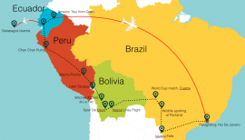 76 Days in South America Rough Plan