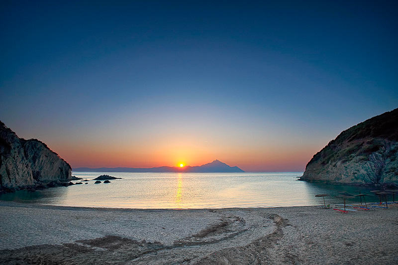 Halkidiki beach sunset 2