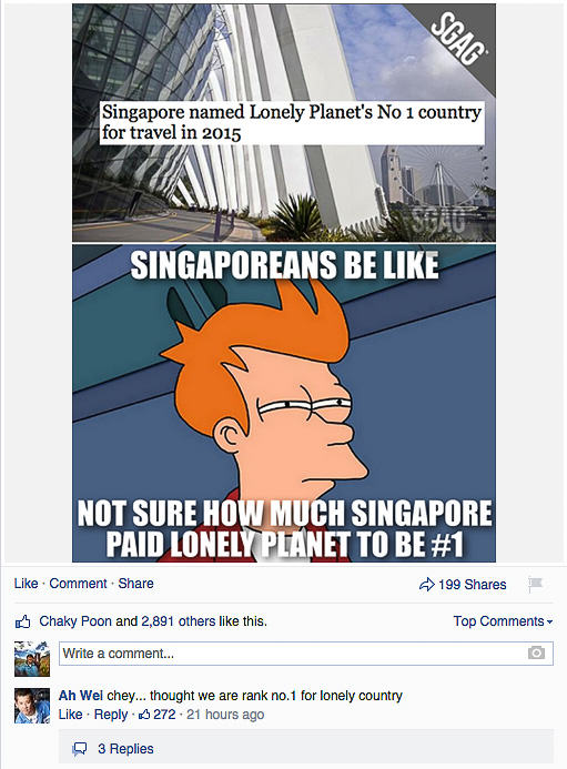 SGAG Singapore Lonely Planet News