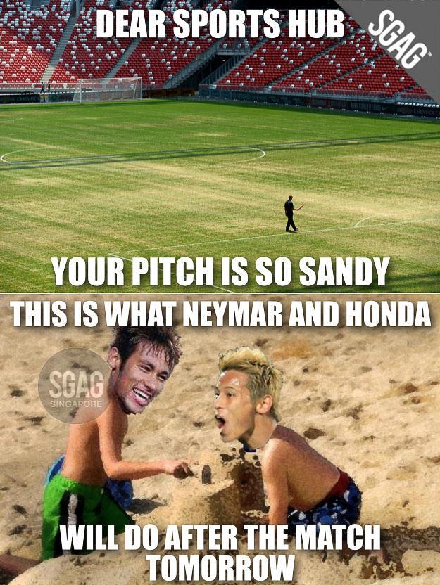 Sports hub sand