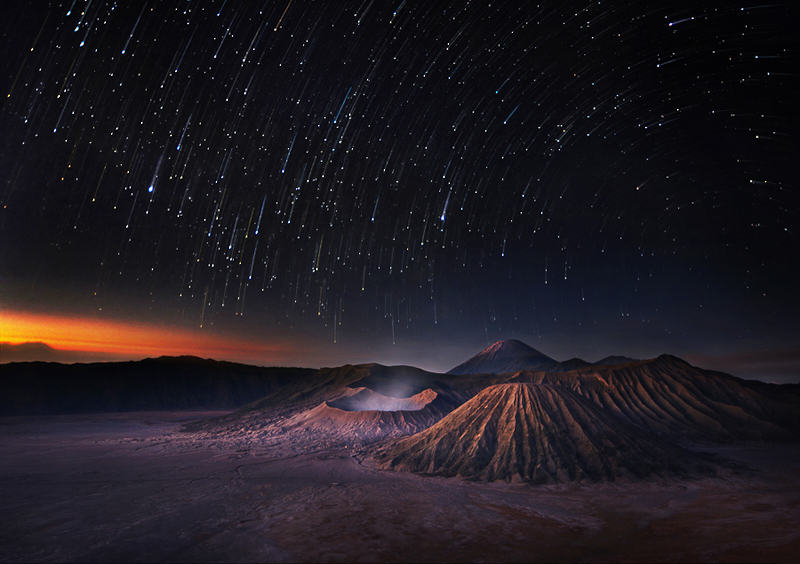 Bromo Indonesia Star Trail