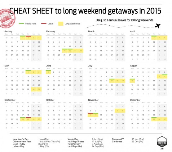 Long Weekend Getaways Singapore 2015