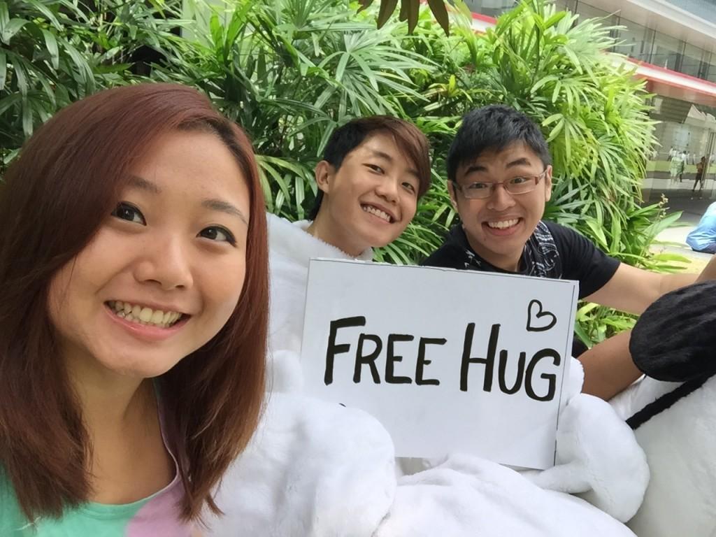 #OneLessStranger Free Hugs