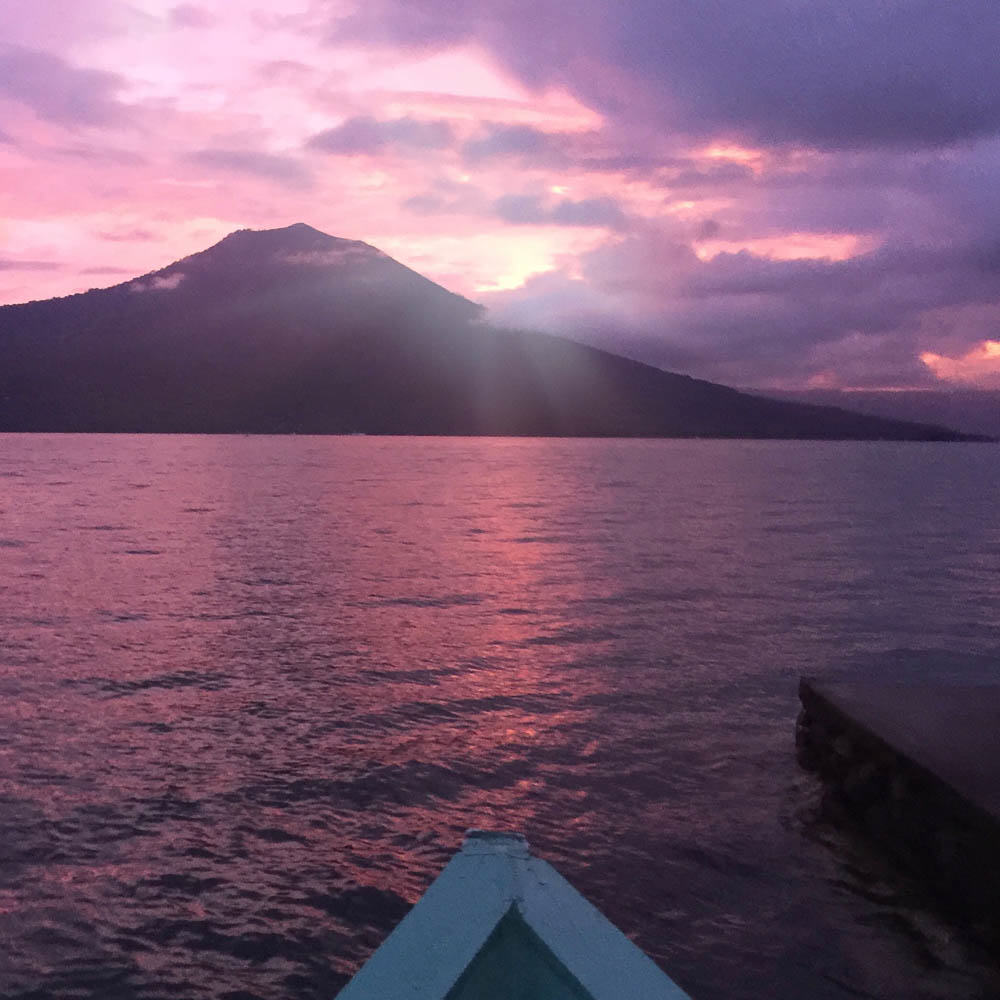 South Sumatra- Ranau Lake Purple Sunset