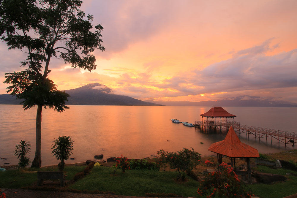 South Sumatra- Ranau Lake Sunset