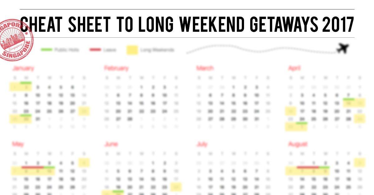 SG Guide to long weekend getaways 2017 - Pohtecktoes