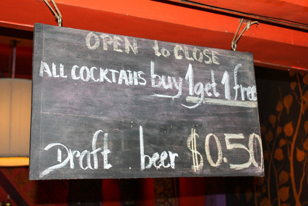 50 cent draft beer in Siam reap
