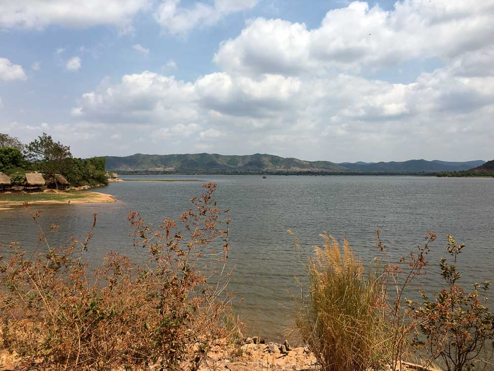 View of Secret lake in Kampot