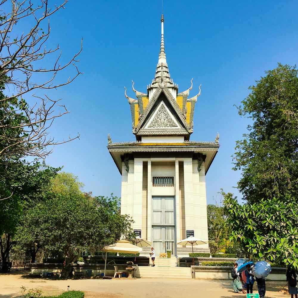 Cheung Ek Memorial Hall - Cambodia on a budget