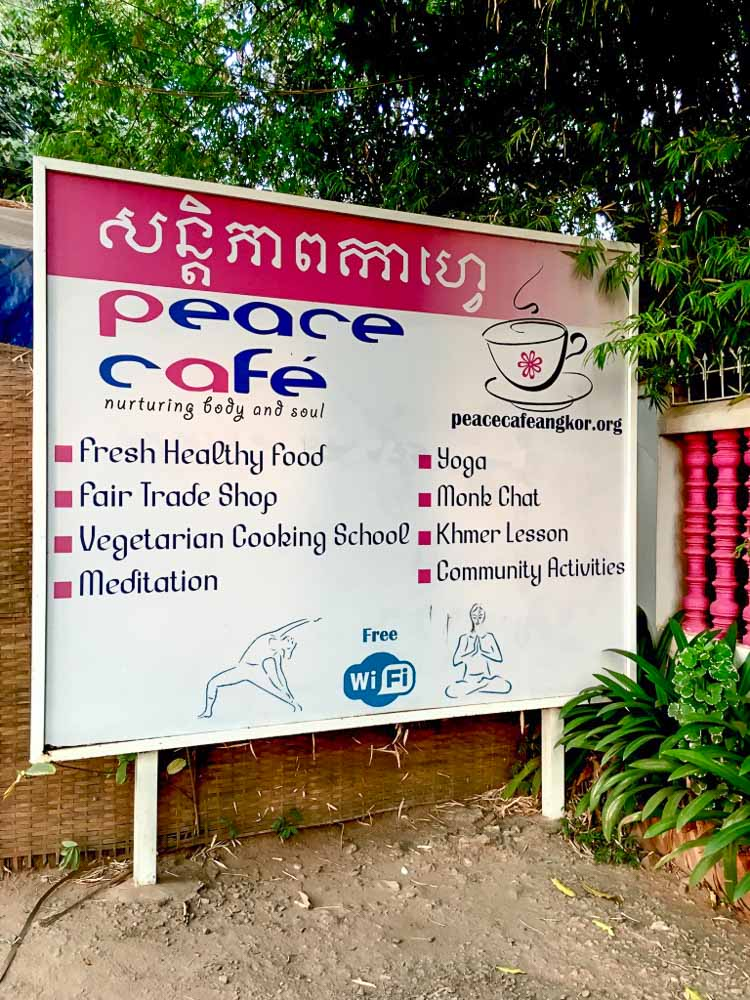 Peach Cafe Siam Reap - Cambodia on a budget