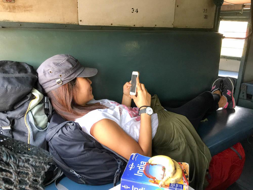 Sleeper class train in India - Yoga in Rishikesh