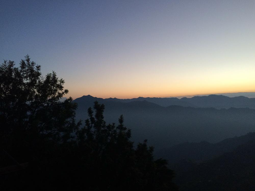 Sunrise from Kunjapuri temple rishikesh