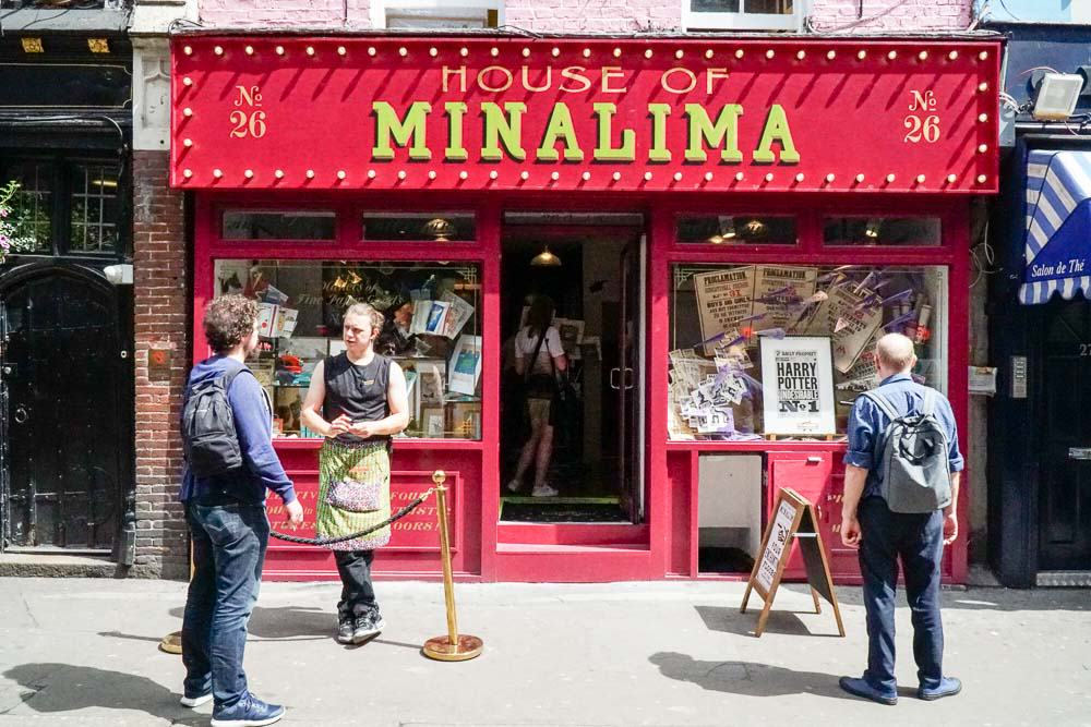 House of Minalima Entrance - Harry Potter London Film Locations