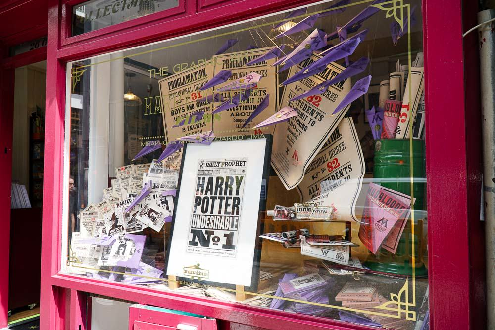 Poster at House of Minalima - Harry Potter London Film Locations