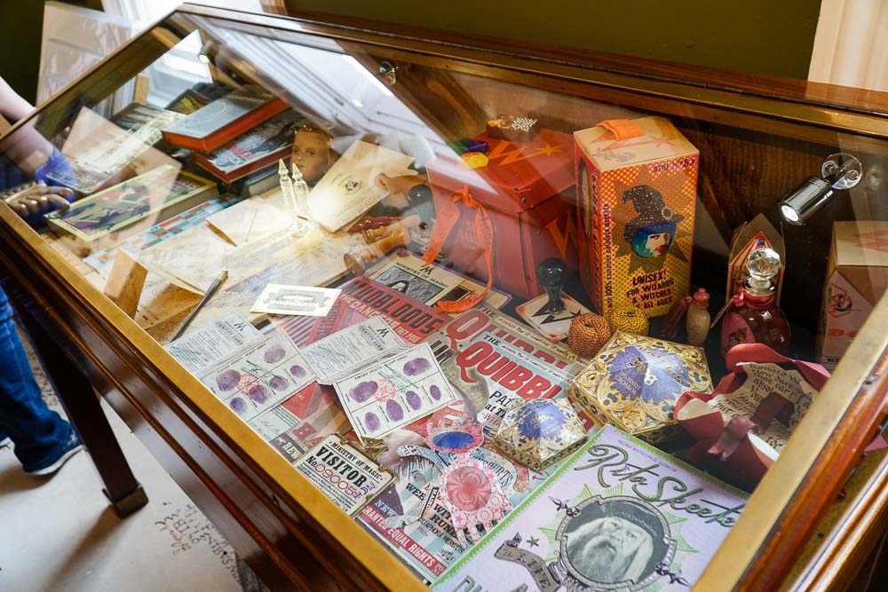 Props at House of Minalima - Harry Potter London Film Locations