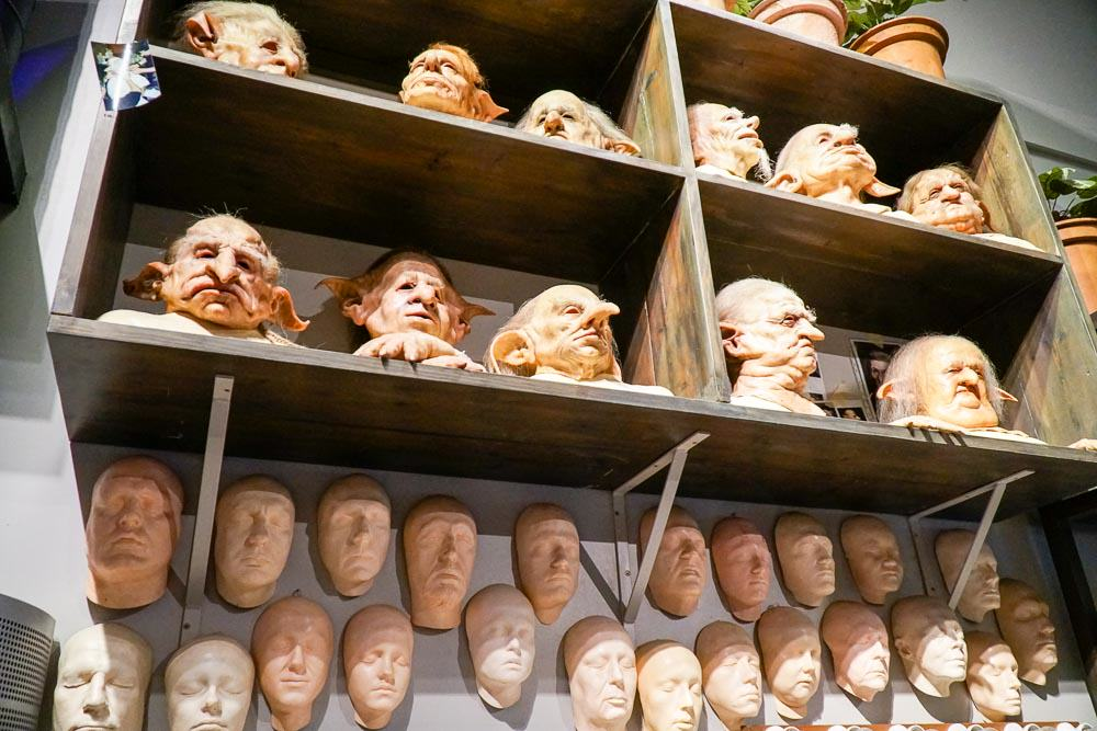Goblin masks - Harry Potter London Studio