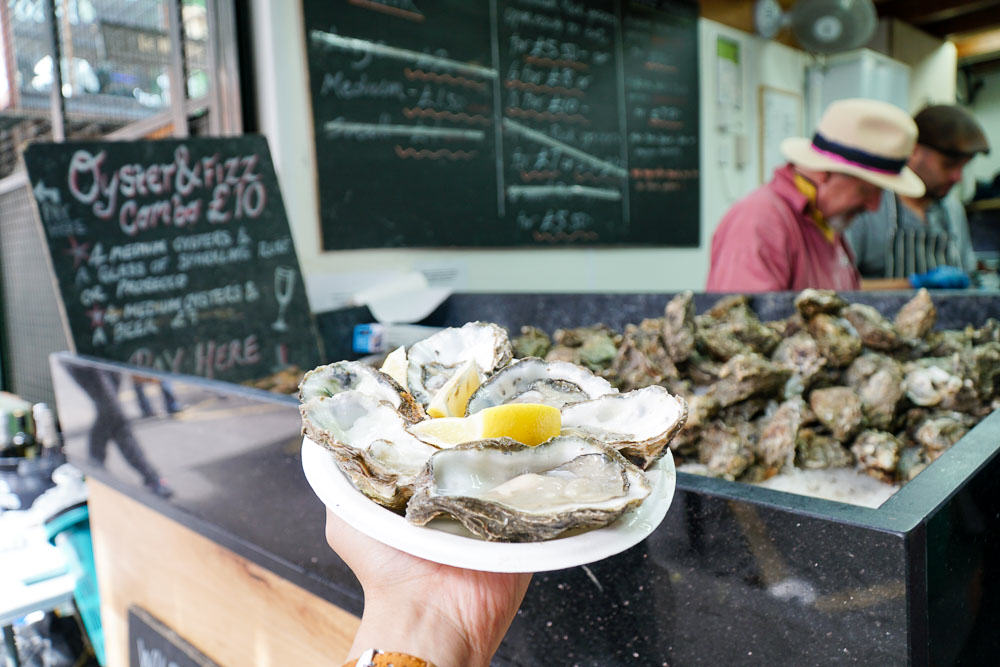Oysters Borough Markets - London Budget Guide