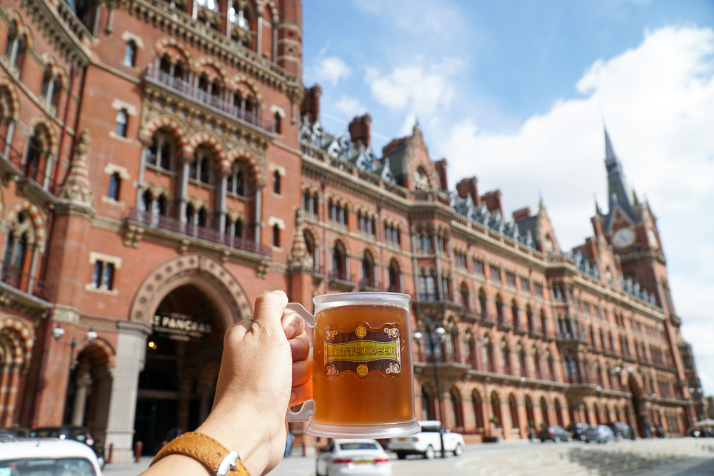St Pancres International Harry Potter Butter Beer -London