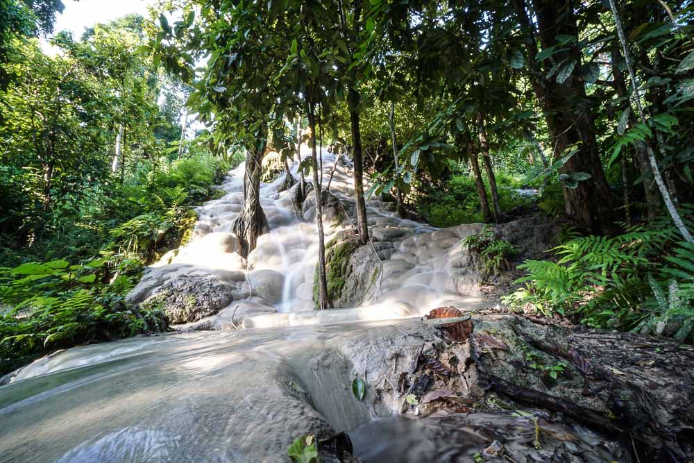 Sticky waterfall at Buatong Waterfall