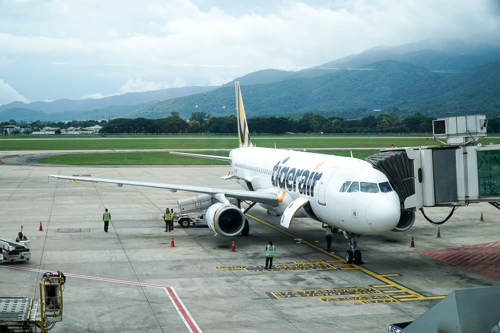 Tigerair flies from Singapore to Chiang Mai