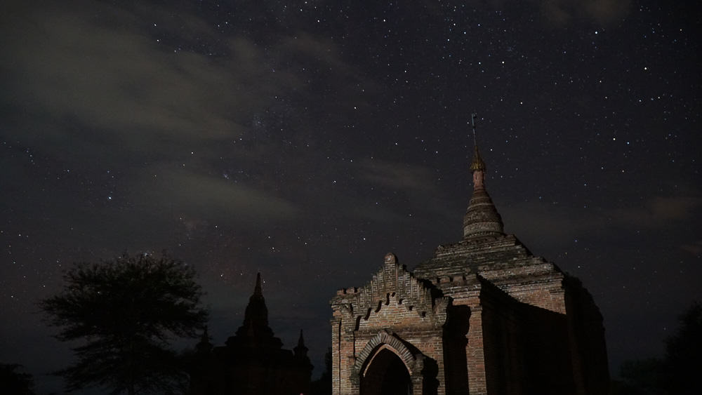 Star lit sky in Bagan - myanmar-itinerary