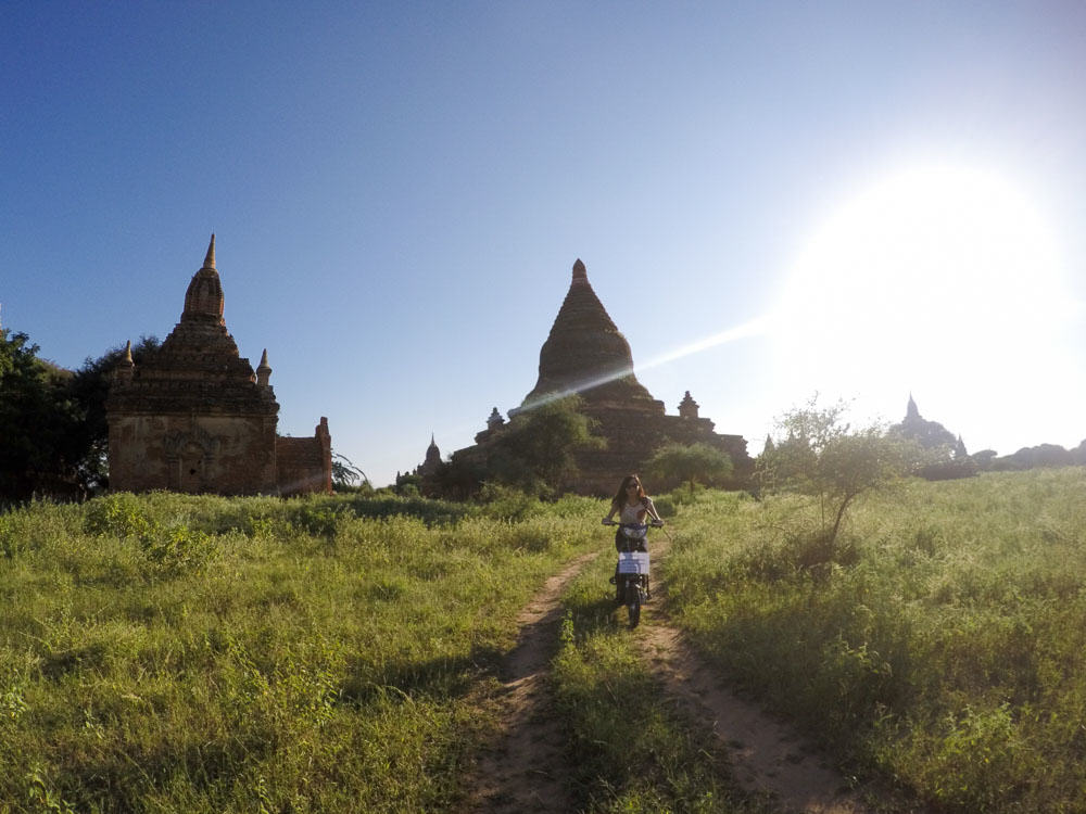 Exploring Old Bagan on E bikes - Myanmar Itinerary