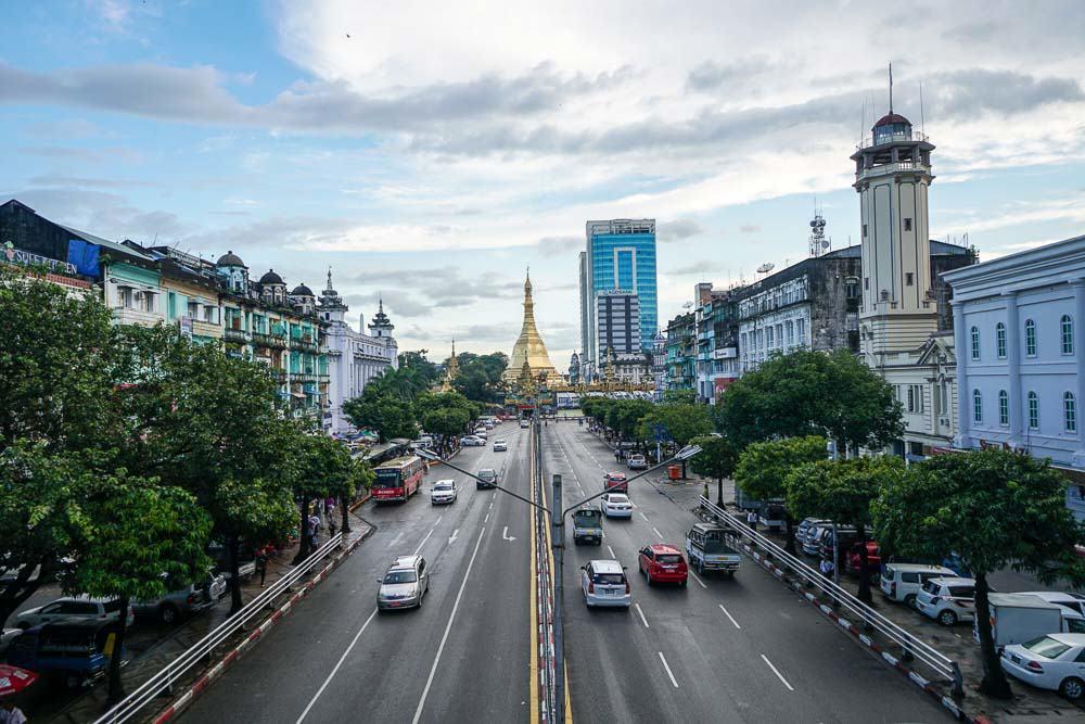 Yangon Street - myanmar-itinerary
