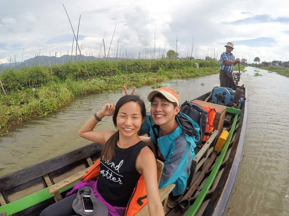 Boat tour on Inle Lake