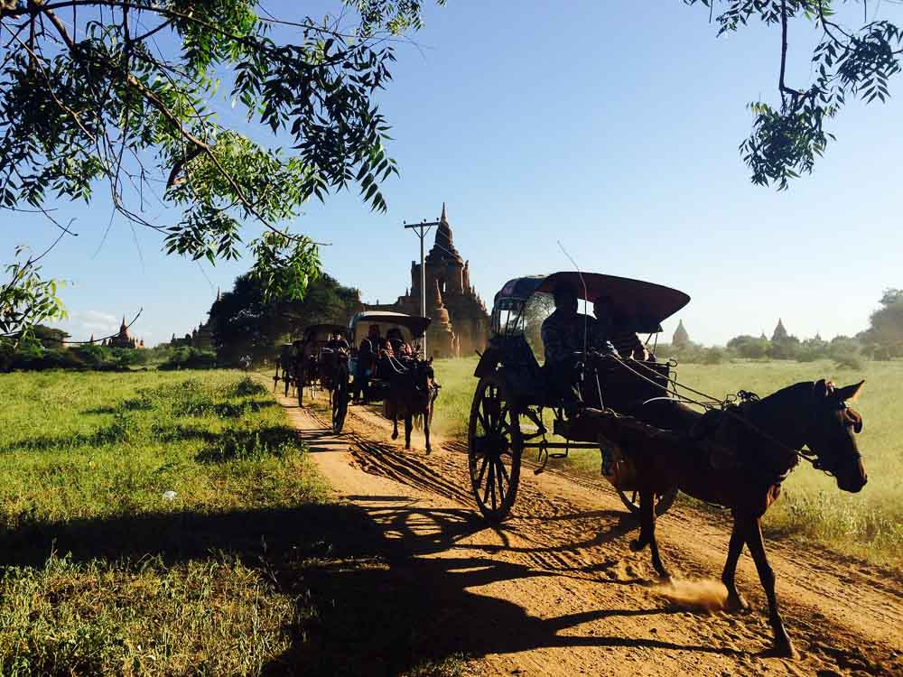 Horse Carriages in Bagan - myanmar-itinerary