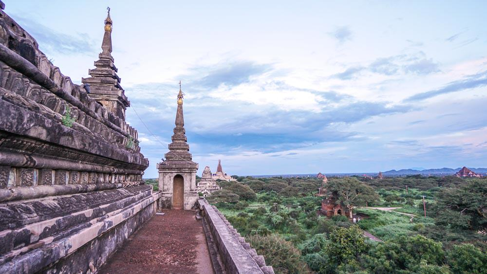 Climbing on Pagodas in Bagan - myanmar-itinerary